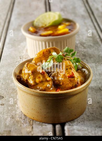Chicken Vindaloo, - Stock Image