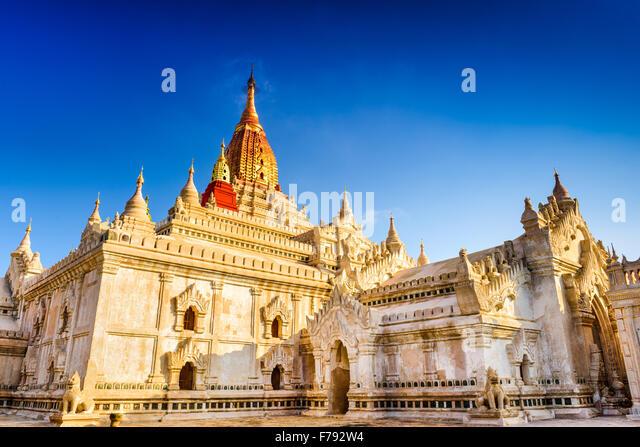 Bagan, Myanmar at Ananda Temple. - Stock-Bilder