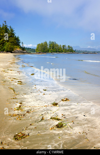 Long Beach in Pacific Rim National park, Vancouver Island, Canada - Stock Image