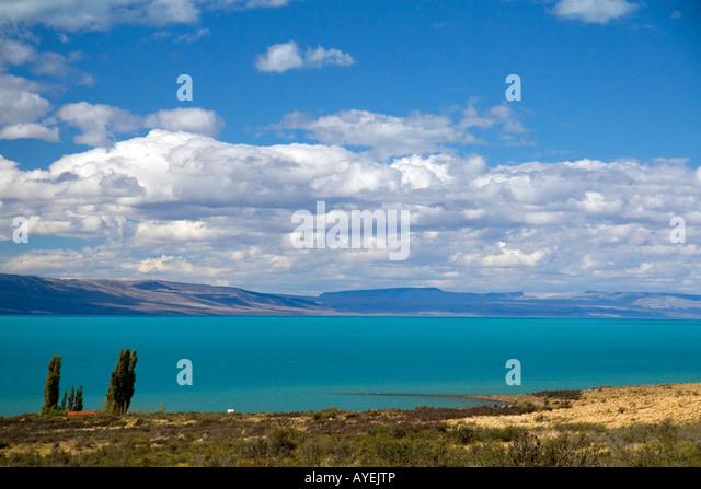 Lake Argentino near El Calafate Patagonia Argentina - Stock Image
