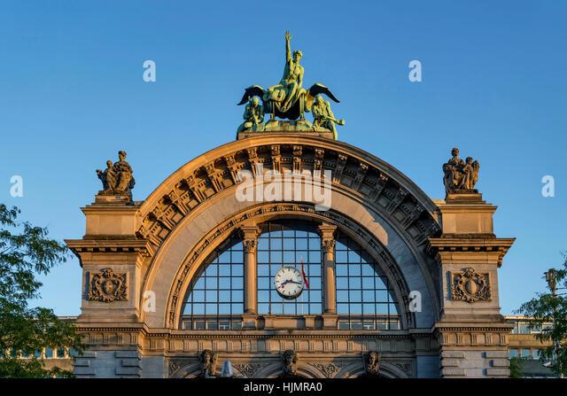 Main Station Portal, Lucerne, Switzerland - Stock Image