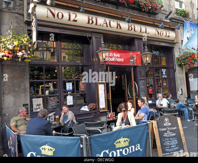 No 12,Black Bull,12 Grassmarket, Old Town, Edinburgh EH1 2JU,Scotland,UK - Stock Image