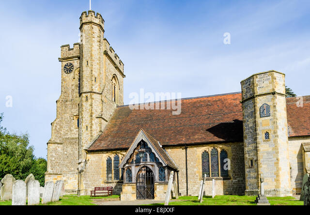 Leigh church in Kent - Stock Image