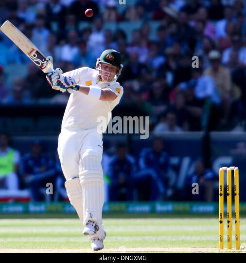 Melbourne, Australia. 27th Dec, 2013. Brad Haddin in batting action during the during day two of the Fourth Ashes - Stock Image