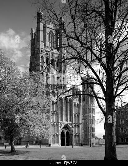West Tower Ely Cathedral Cambridgeshire - Stock Image