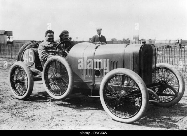 Peugeot at GP De L' ACF Dieppe 1912. Zuccarelli is the driver - Stock Image