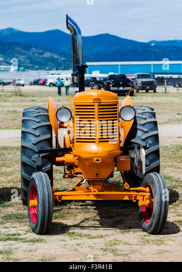Restored Antique Tractors : American tractors stock photos
