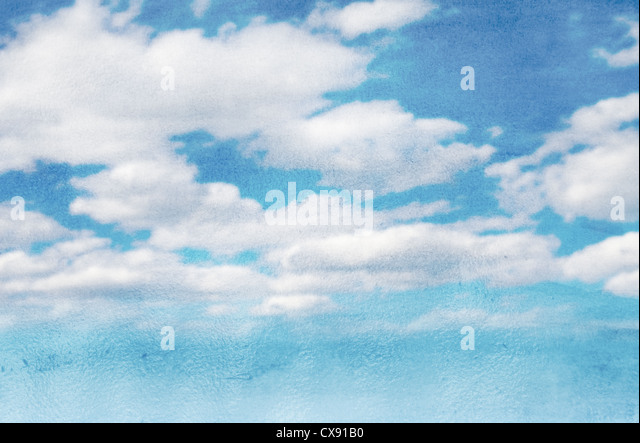 sky and clouds wet watercolor background - Stock-Bilder