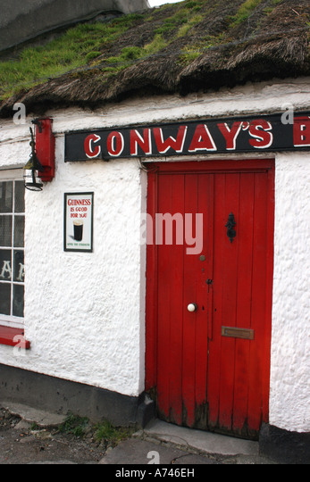 Conways Bar traditional pub in Ramelton, County Donegal, Republic of Ireland - Stock Image