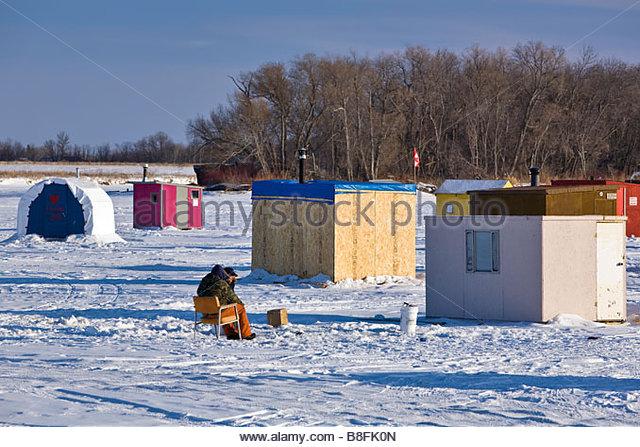 Ice shacks stock photos ice shacks stock images alamy for Ice fishing canada