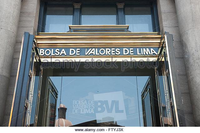 Lima Peru Bolsa de Valores de Lima. - Stock Image