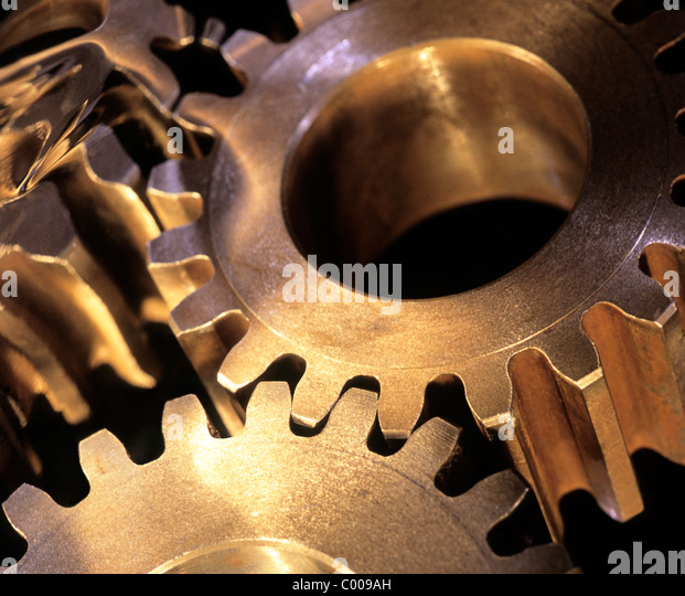 Gear Cogs Still Life Industry Mechanical Gears - Stock Image