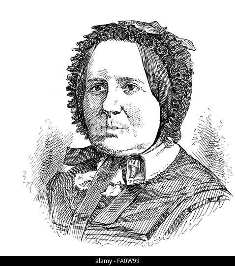 Maria Lenzen, 1814-1882, a German writer, - Stock-Bilder
