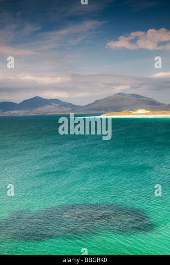 Seilebost beach, isle of Harris, Outer Hebrides, Scotland - Stock-Bilder