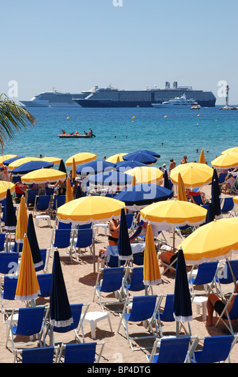 Cannes Beach, South of France - Stock Image