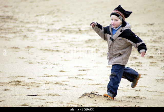 photograph of boy exercise healthy outdoor running active kids - Stock-Bilder