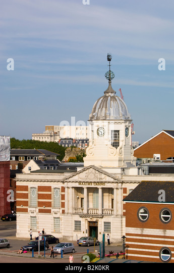 Architecture in harbour Southampton United Kingdom - Stock-Bilder
