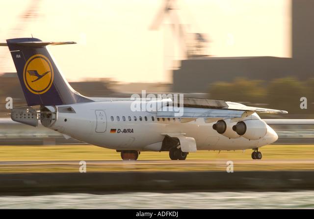 Lufthansa BAE Systems Avro 146-RJ85 - Stock Image