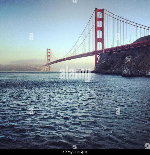 Golden Gate Bridge, San Francisco, America, USA - Stock Image