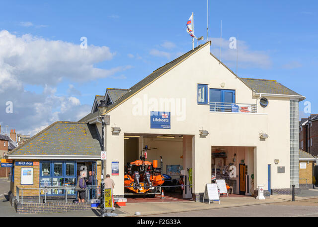 RNLI Lifeboat Station in Littlehampton, West Sussex, England, UK. - Stock Image