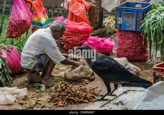 Vegetable and food market Kandy Sri Lanka - Stock Image