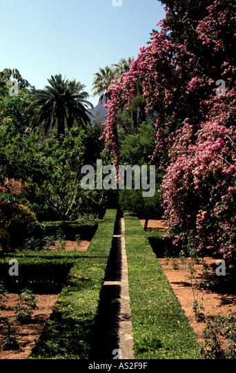 Son Alfabia,  Portal der Masia, Gartenanlage 2 - Stock Image