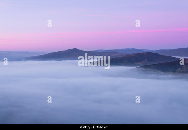 Lower clouds in Wicklow Mountains - Stock Image