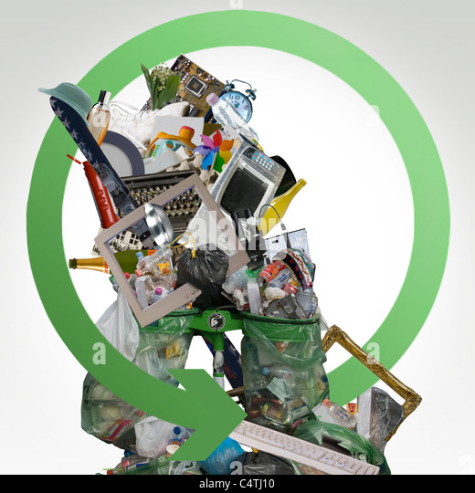 Garbage and e-waste - Stock Image