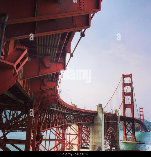 South side of Golden Gate Bridge. - Stock Image