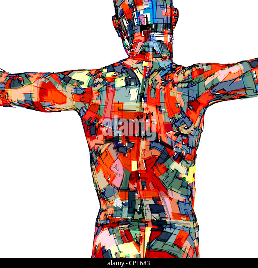 A silhouette of a man's body - Stock Image