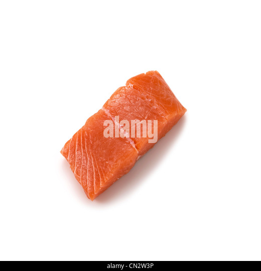 Raw Salmon - Stock Image