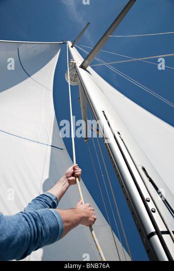 Sail Boat Ropes Stock ...