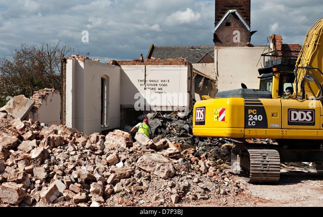 Demolition Of Science : Demolition wrecking stock photos
