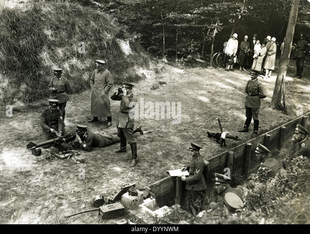 Gunnery training at the Reichswehr, around 1930 - Stock Image