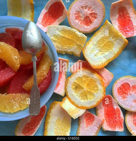 Grapefruit and orange salad - Stock-Bilder