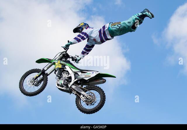 Ardingly, UK. 3rd July, 2016.Nitro Circus Live UK summer tour 2016, South of England Showground, Featuring 30 of - Stock Image