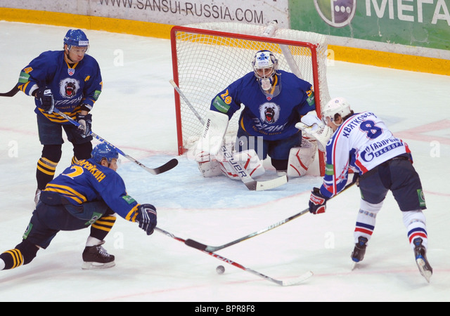 KHL: Atlant Moscow Region 2 - 1 SKA St Petersburg - Stock Image