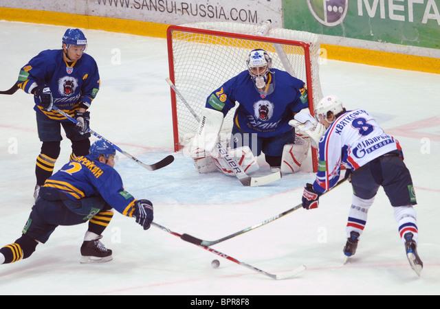 KHL: Atlant Moscow Region 2 - 1 SKA St Petersburg - Stock Image