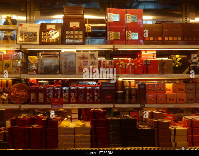 Brussels, chocolate, Cote d'Or, best, tasty - Stock Image