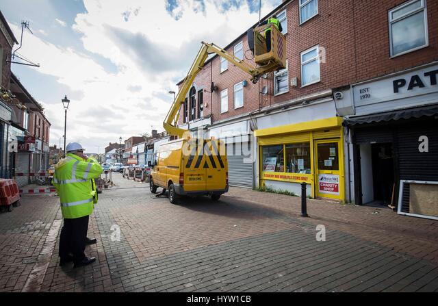 Work to secure buildings in New Ferry after a gas explosion - Stock Image