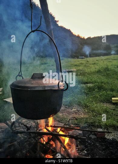 Camping in Ukraine - Stock Image