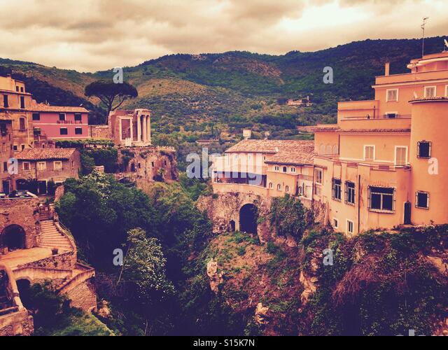 Beautiful view of classical villa architecture in Tivoli, Italy. - Stock Image