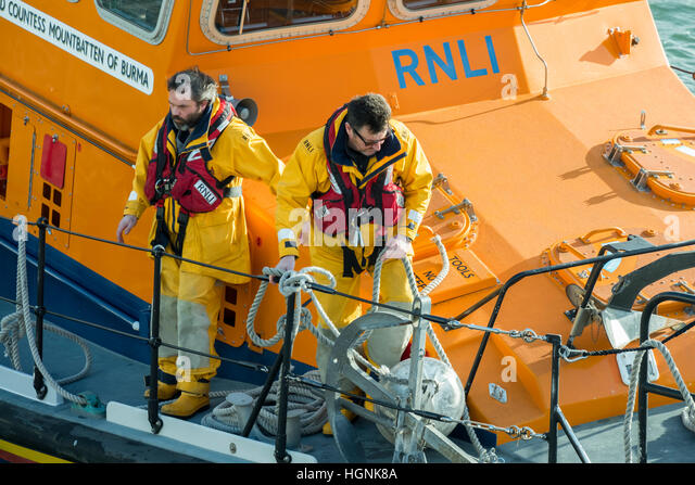 RNLI Lifeboat Training in Poole.Poole home of the RNLI - Stock Image