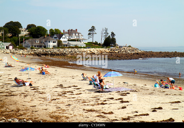 New Hampshire North Hampton North Hampton State Beach Route 1A Atlantic Ocean sand - Stock Image
