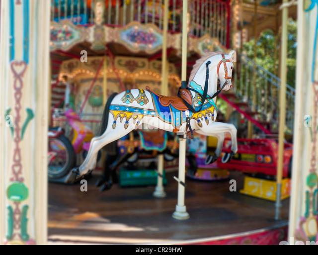 Carousel ride horse - Stock Image