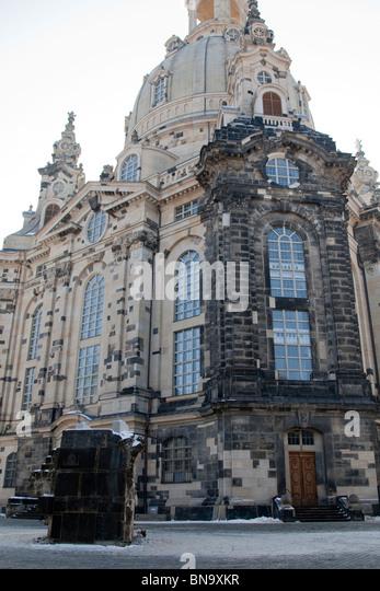 The Dresden Frauenkirche, Dresden, Germany. - Stock Image