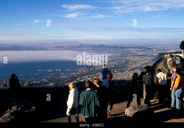South Africa Cape Town as seen from the top of Table Mountain - Stock Image