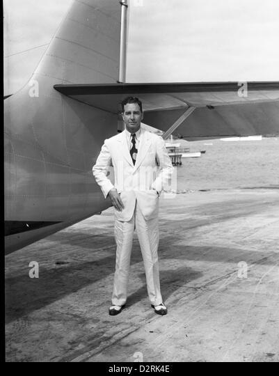Cornelius Vanderbilt Whitney with his Plane in Nassau, 1939 - Stock Image