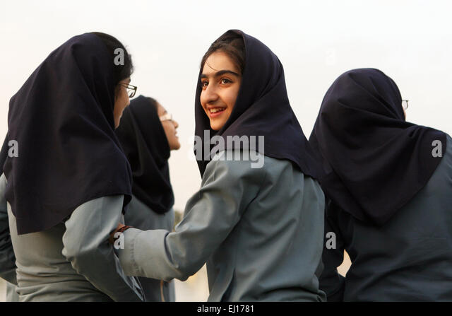 Pupils in Tehran, Iran. - Stock Image