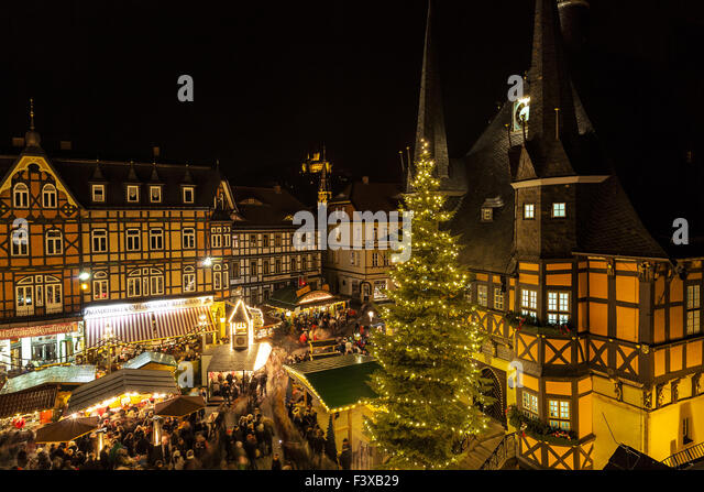 Christmas market in germany - Stock Image